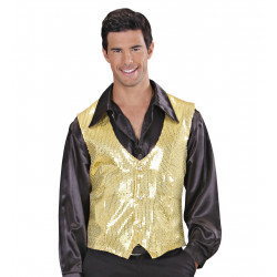 gilet sequins or