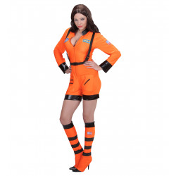 costume cosmonaute orange