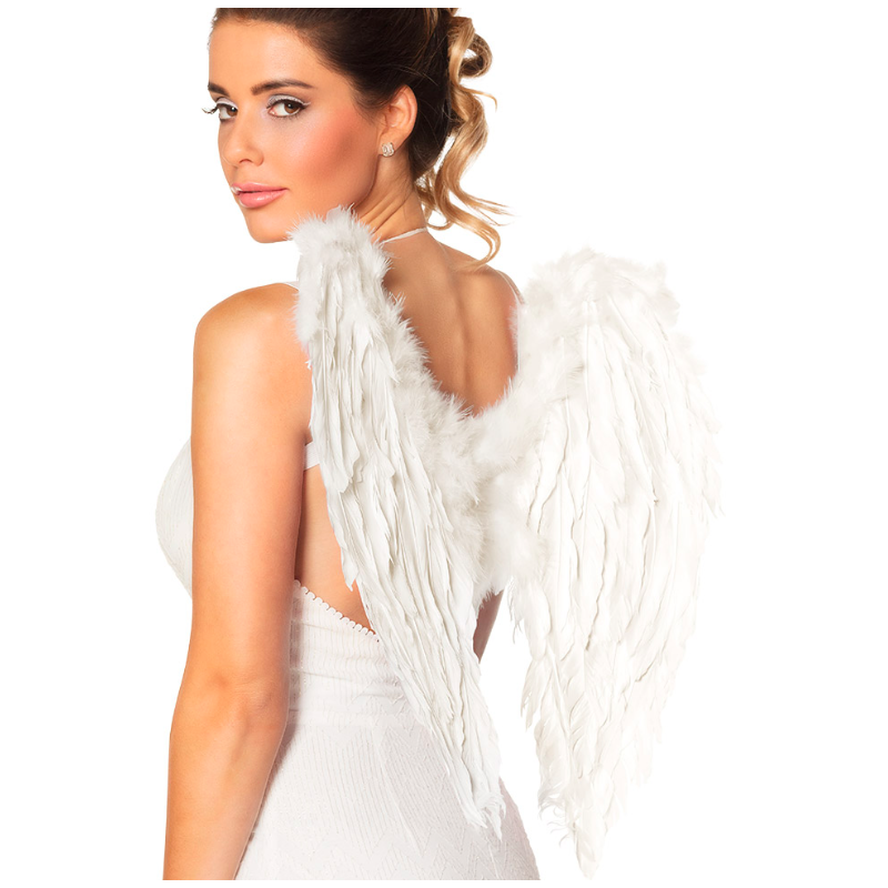 ailes plumes blanches