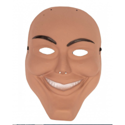 masque homme souriant