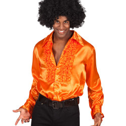 location chemise disco orange