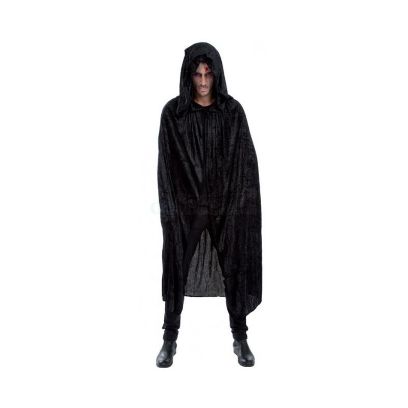 cape noir avec capuche