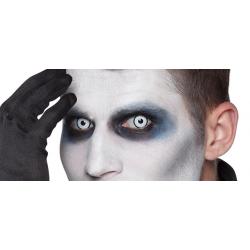 Lentilles Manson oeil blanc cerclé noir-journalière