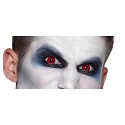 Lentilles F Manson oeil rouge cercle noir annuel