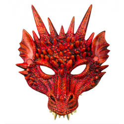 demi masque dragon rouge