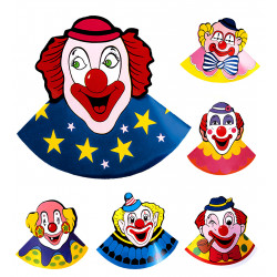 6 coiffes de clown PM