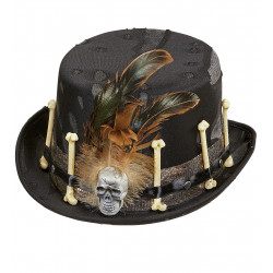 Chapeau Vaudou avec plumes