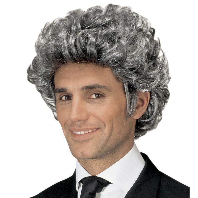 perruque homme gris