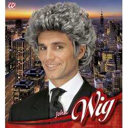 perruque gris homme