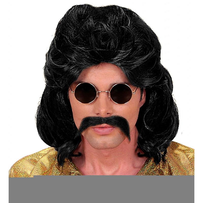 perruque noir an 80