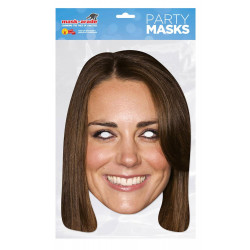 Masque Princesse Kate Middleton en carton