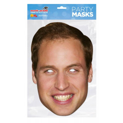 Masque Prince William en carton