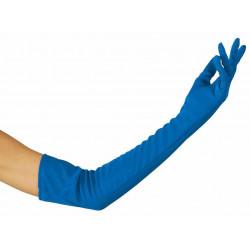 Gants long bleus