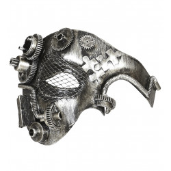 Loup Steampunk Argent