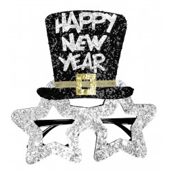 Lunettes Happy New Year Argent