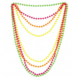 4 colliers fluo