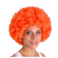 Perruque afro orange