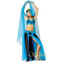 Déguisement Orient Femme Bleu