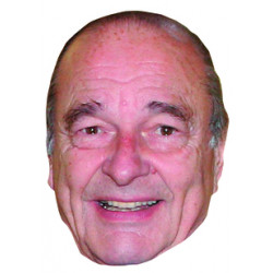 Masque Jacques Chirac
