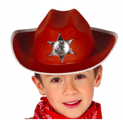 chapeau cow boy enfant marron