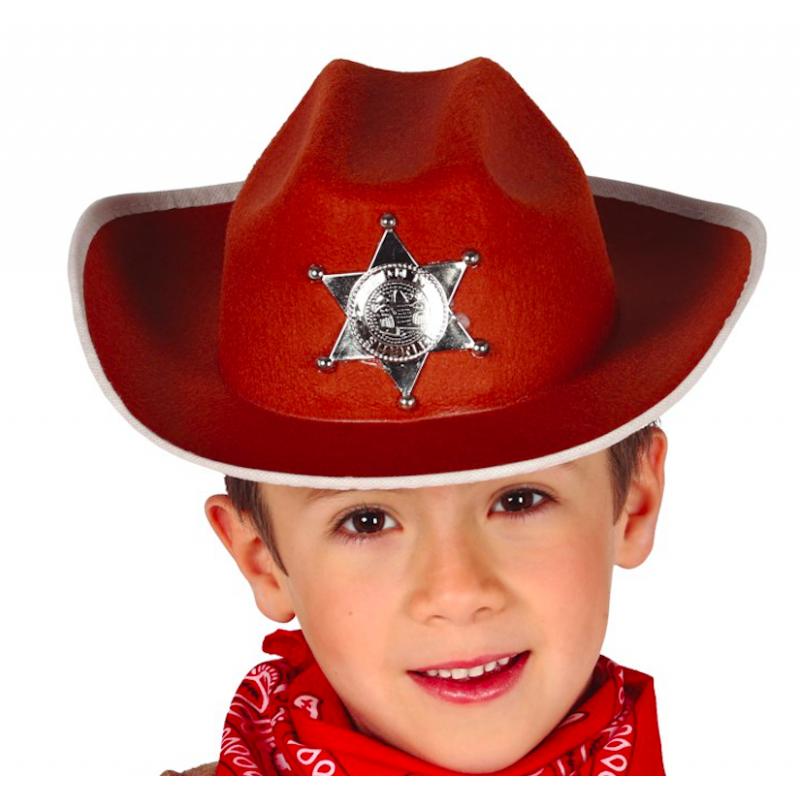 chapeau cow boy enfant marron