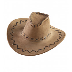 chapeau cow boy marron