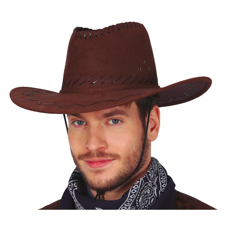 Chapeau cow boy marron luxe